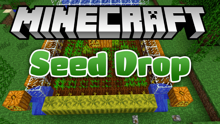 Seed Drop mod for minecraft logo