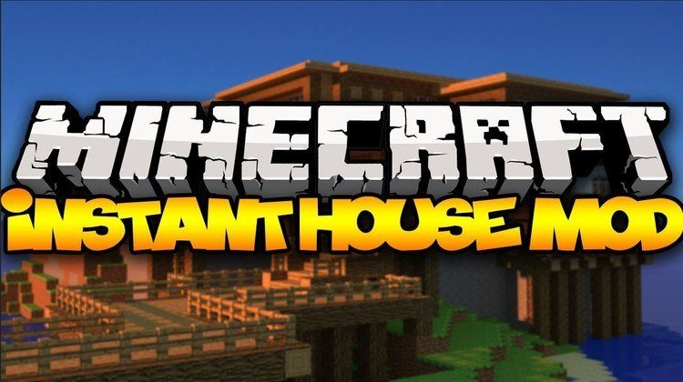 The Instant House Mod for Minecraft Logo