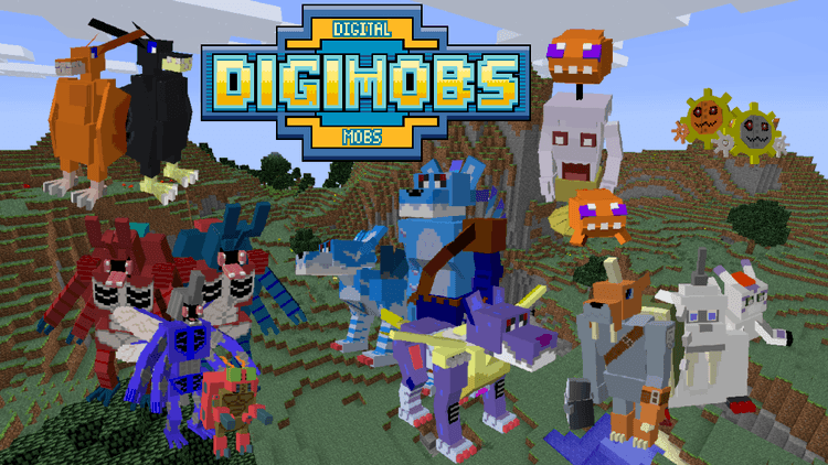 digimobs mod for minecraft logo