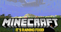 its raining food mod for minecraft logo