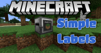 simple labels mod for minecraft logo