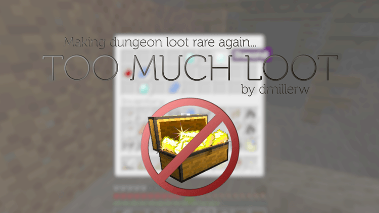 toomuchloot mod for minecraft logo
