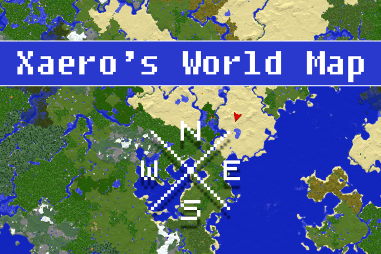world map mod for minecraft logo
