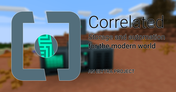 Correlated Potentialistics mod for minecraft logo