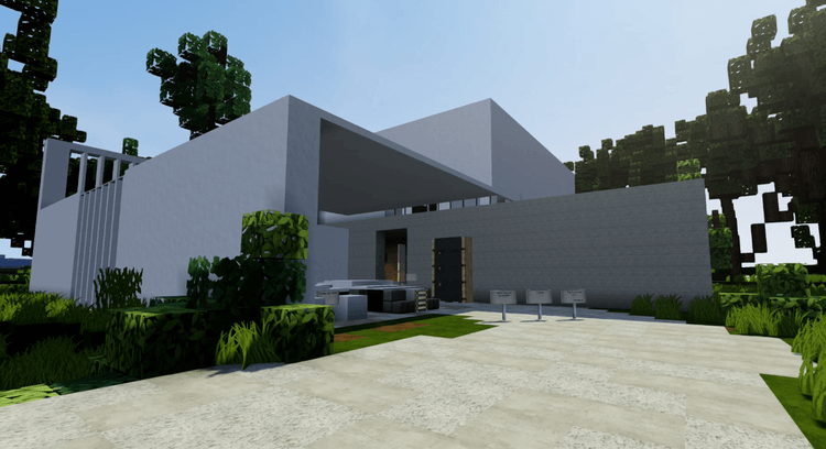 Kiến trúc TRẮNG Resource Pack Minecraft WHITE Architecture 7