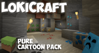 LoKiCraft PureCartoonPack Resource Pack Logo
