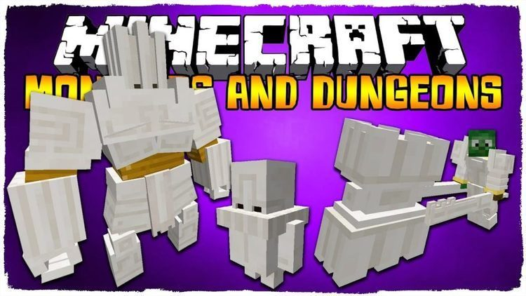 Monsters and Dungeons Mod for Minecraft Logo