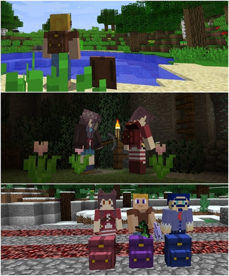 Wearable Backpacks Mod for Minecraft 1