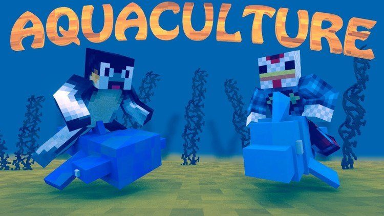 aquaculture mod for minecraft logo