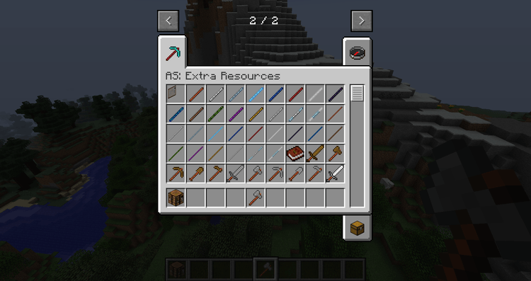 Advanced Sticks Extra Resources mod for minecraft 02