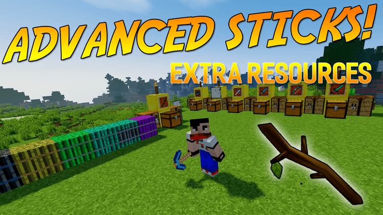Advanced Sticks Extra Resources mod for minecraft logo