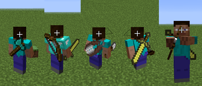 Back Tools mod for minecraft 8