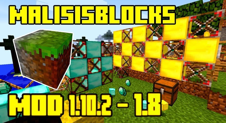 Malisis Blocks mod for minecraft logo
