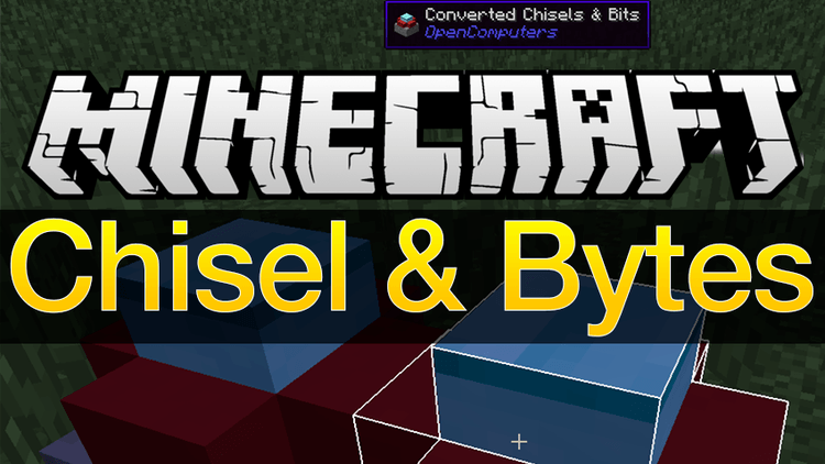 Chisel and Bytes Mod for minecraft logo