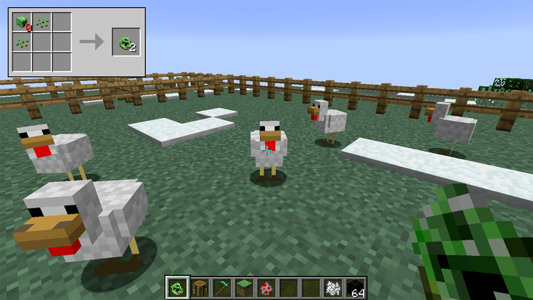 creeper chickens mod for minecraft 02