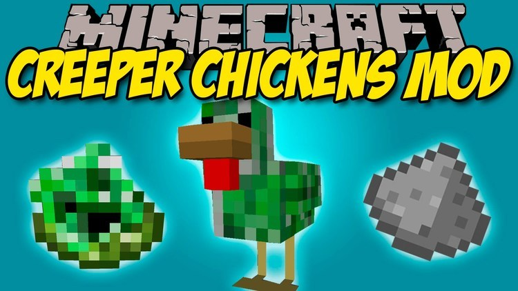 creeper chickens mod for minecraft logo