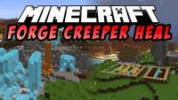 forge creeper heal mod for minecraft logo