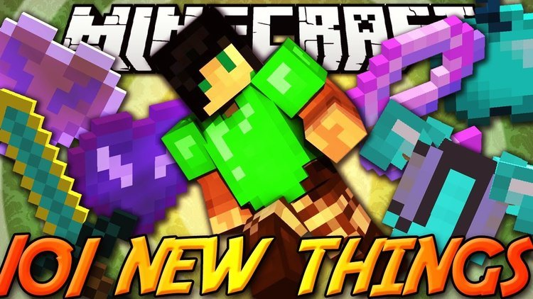 101 new things mod for minecraft logo
