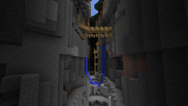 Between Caves map cho Minecraft