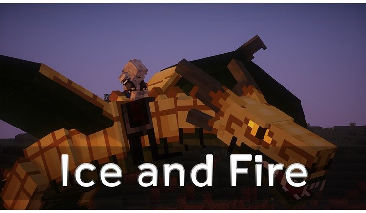 Ice and Fire Mod for Minecraft logo