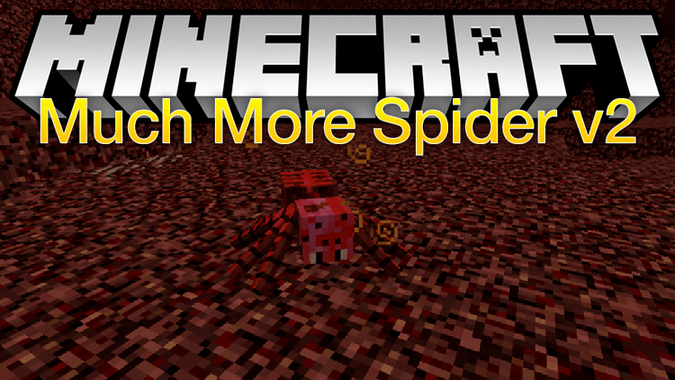 much more spider v2 mod for minecraft logo