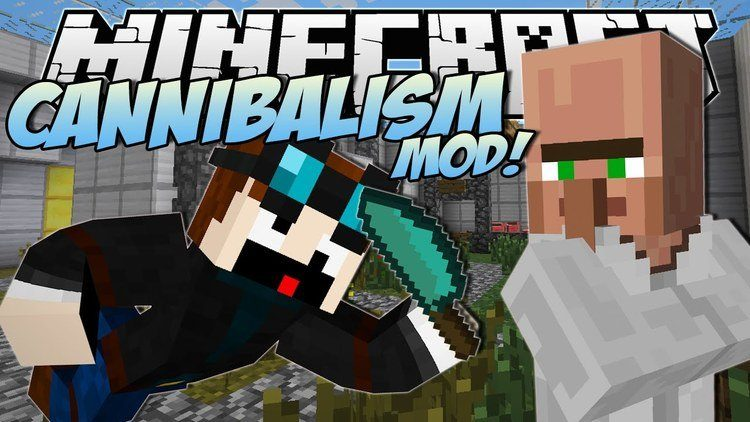 Cannibalism mod for minecraft logo