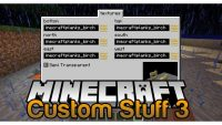 Custom Stuff 3 mod for minecraft logo