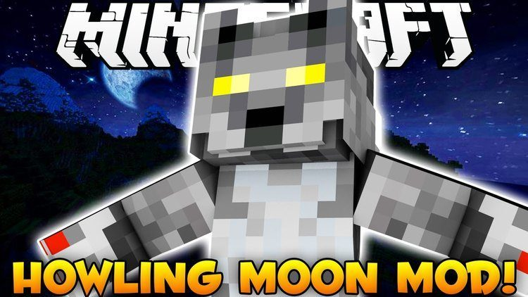 Howling moon mod for minecraft logo
