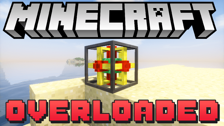 Overloaded mod for minecraft logo