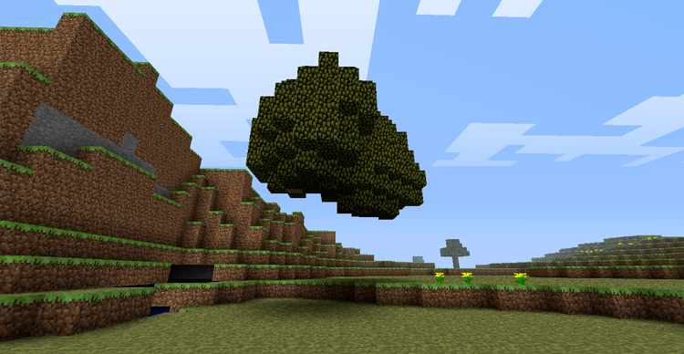 Quick Leaf Decay mod for minecraft 01