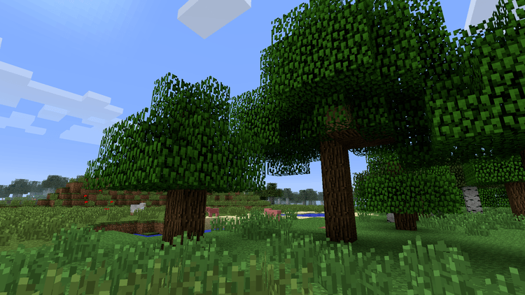 Quick Leaf Decay mod for minecraft 03