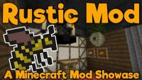 Rustic mod for minecraft logo