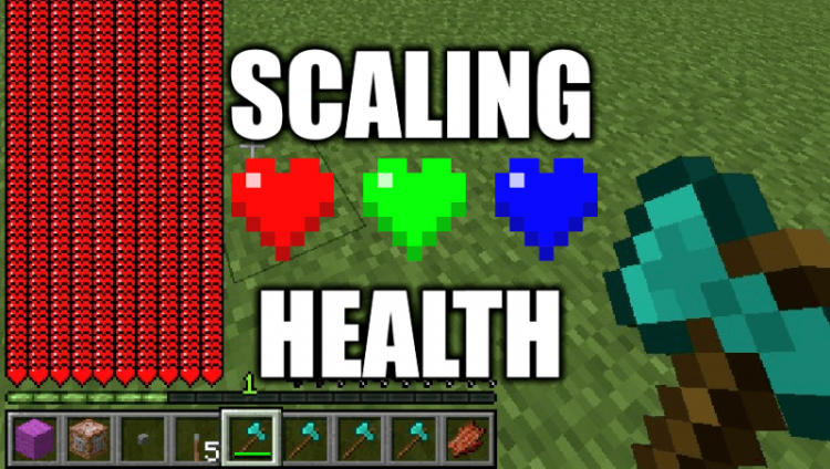 Scaling Health mod for minecraft logo