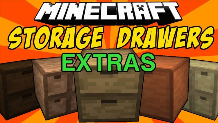 Storage Drawers Extras Mod for minecraft Logo