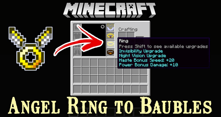 angel ring to baubles mod for minecraft logo