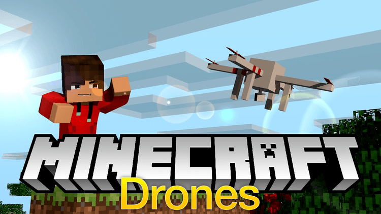 drones mod for minecraft logo