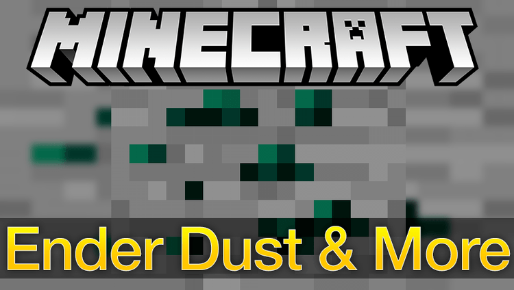 ender dust & more mod for minecraft logo