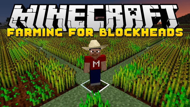 farming for blockheads mod for minecraft logo