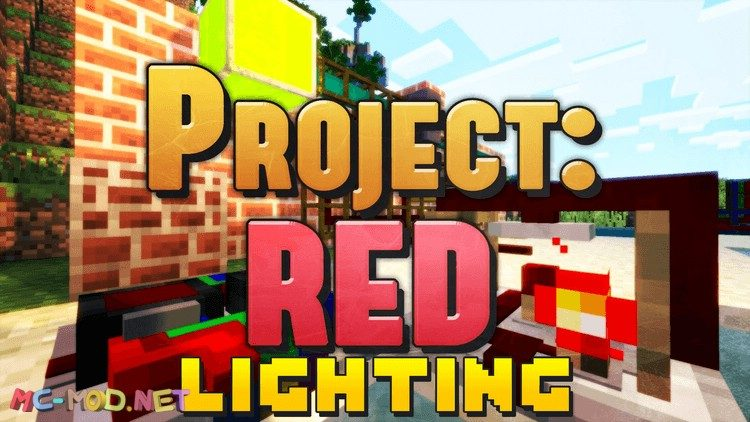 project red lighting mod for minecraft logo
