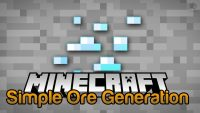 simple ore generation mod for minecraft logo