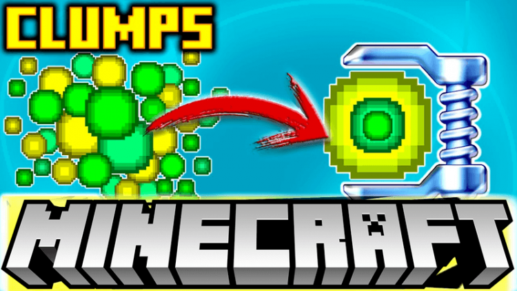 Clumps mod for minecraft logo