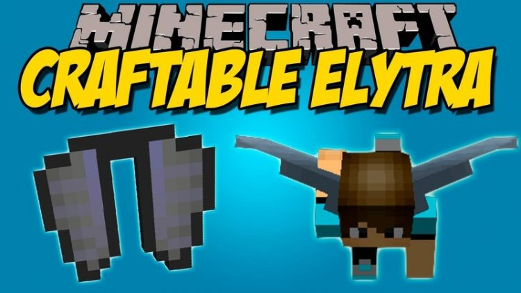 Craftable Elytra mod for minecraft logo