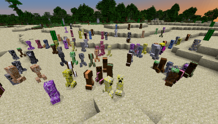 Elemental Creepers mod for minecraft 02