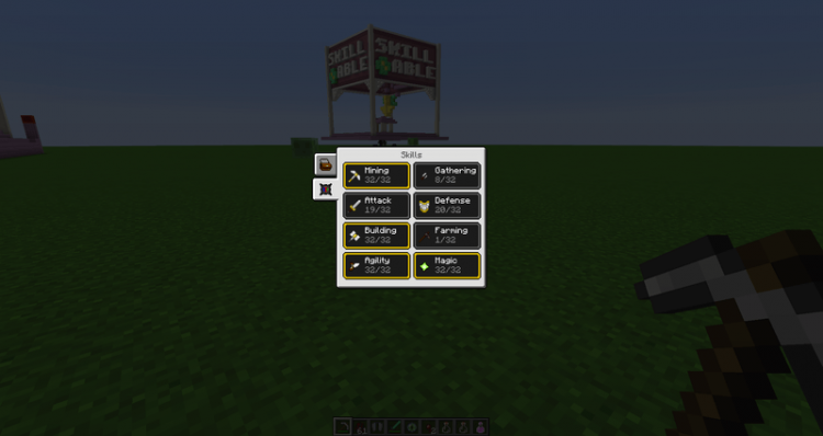 Skillable mod for minecraft 02