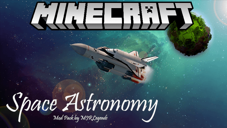 Space Astronomy mod for minecraft logo