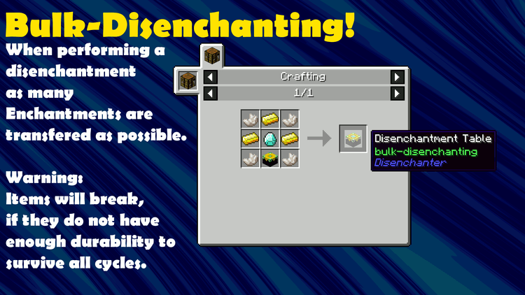 The disenchanter mod for minecraft 03
