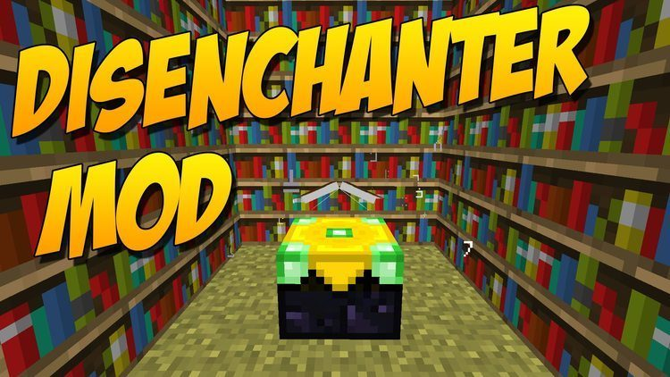 The disenchanter mod for minecraft logo