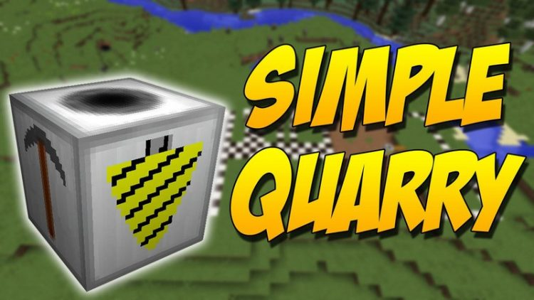 simple quarry mod for minecraft logo