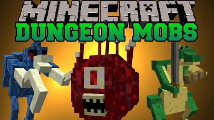 dungeon mobs for minecraft logo