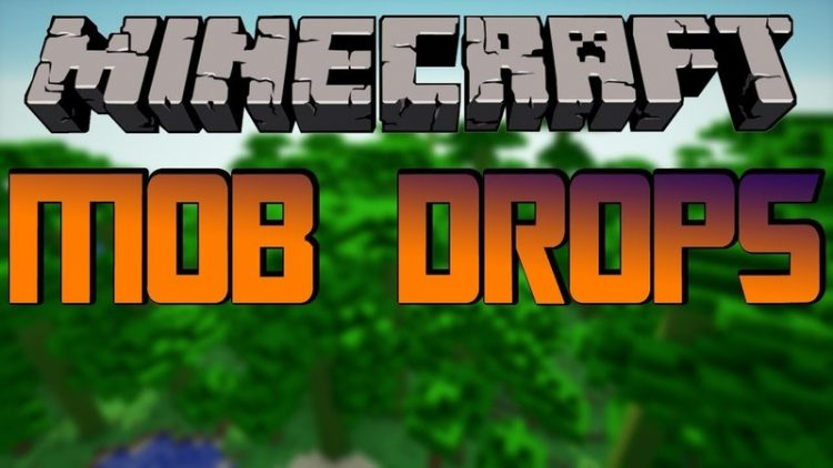 mob drops mod for minecraft logo